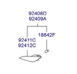 شبرنگ (لامپ دار) سپر عقب هیوندای توسان ix35 - کاتالوگ