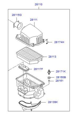 فیلتر هوا هیوندای توسان ix35 - کاتالوگ