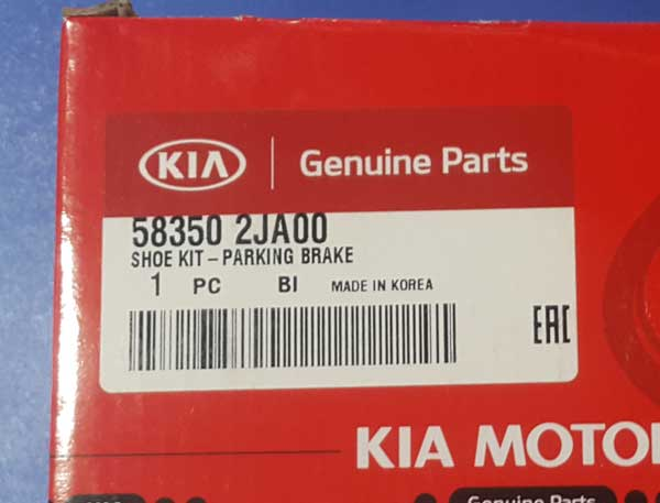 Kia-Mohave-Parking-Brake-Pad-label