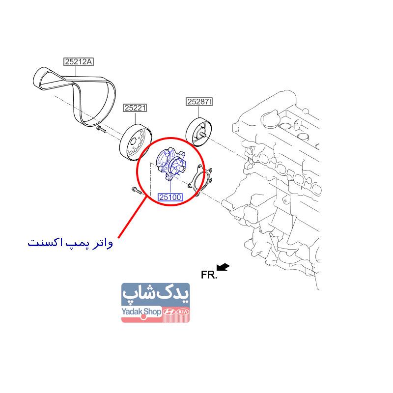 Hyundai-Accent-Coolant-Pump-Assy-25100-2B700